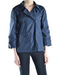 Add - Women's Blue Polyamide Trench Coat - Lyst