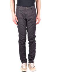 Incotex - Men's Grey Wool Pants - Lyst