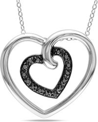 Catherine Malandrino - Double Heart Pendant With Chain - Lyst