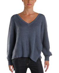 Free People - Womens West Coast Asymmetrical V-neck Pullover Sweater - Lyst