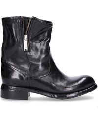 LEMARGO - Women's Black Leather Ankle Boots - Lyst