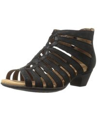 Cobb Hill - Womens Abbott Leather Open Toe Casual Strappy, Black Nubuck, Size 9.0 - Lyst