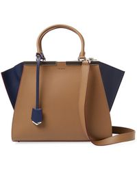 Fendi - 3jours Bicolor Leather Satchel - Lyst