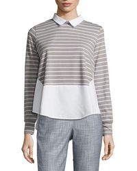 French Connection - Fresh Tim Tim High-low Top - Lyst