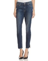 PAIGE - Womens Hoxton Ankle Peg Side Slit High Rise Ankle Jeans - Lyst