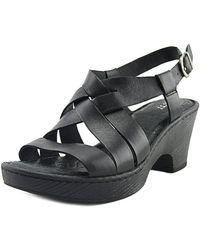 Born - Carmo Women Open-toe Synthetic Black Slingback Heel - Lyst