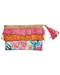 San Diego Hat Company - Women's Clutch With Fringe And Flower Print Bsb1718 - Lyst