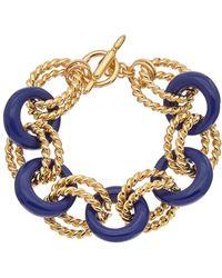 Kenneth Jay Lane | Gold Plated Resin Bracelet | Lyst