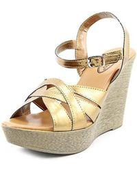 Callisto - Dessy Women Synthetic Wedge Sandal - Lyst
