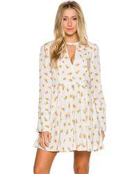 Free People - Tegan Long Sleeve Floral Printed Mini Dress - Lyst