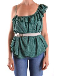 Patrizia Pepe - Women's Green Polyester Top - Lyst
