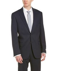 Hart Schaffner Marx - 2pc Classic Fit Suit With Flat Front Pant - Lyst