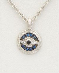 Judith Ripka - Silver 0.13 Ct. Tw. Gemstone Evil Eye Necklace - Lyst