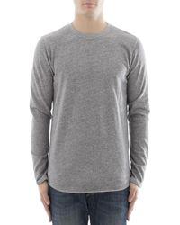 Edwin - Men's Grey Cotton Sweater - Lyst
