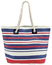 San Diego Hat Company - Women's Woven Striped Tote With Rope Handles Bsb1704 - Lyst