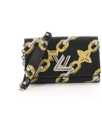e70a8726b622 Louis Vuitton - Twist Chain Wallet Limited Edition Chain Flower Print Epi  Leather - Lyst