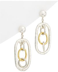 Gurhan - Hoopla 24k & Silver Drop Earrings - Lyst