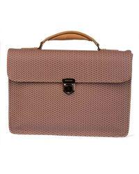 Zanellato - Men's Brown Leather Briefcase - Lyst