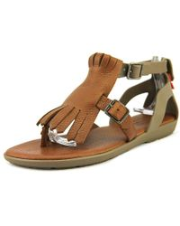 a7604e5d7ec2 HUNTER - Womens Wfd1053lpv Split Toe Casual Slingback Sandals - Lyst