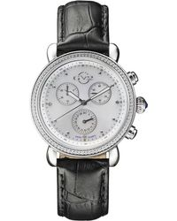 Gv2 - Marsala Ss Case Grey Leather Strap Watch - Lyst