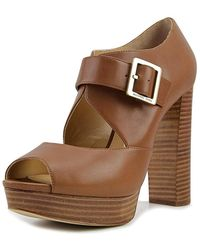 3ef3976e411 MICHAEL Michael Kors - Womens Eleni Suede Peep Toe Casual Platform Sandals  - Lyst