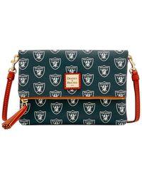 Dooney & Bourke - Nfl Oakland Raiders Foldover Crossbody Shoulder Bag - Lyst