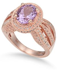 Suzy Levian - Sterling Silver 4.52 Tcw Purple Amethyst Ring - Lyst