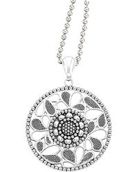 Lagos - Signature Caviar Silver Voyage Circle 34in Necklace - Lyst