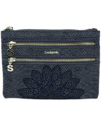 Desigual - Women's Blue Polyester Wallet - Lyst