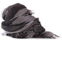 Guess - Women's Black Viscose Scarf - Lyst
