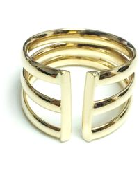 Jewelry Affairs - 14k Yellow Gold Triple Open Band Ring - Lyst
