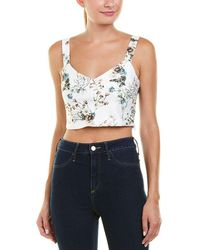 Lucy Paris - Jardin Cropped Top - Lyst