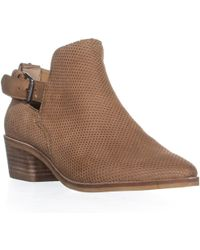 Dolce Vita - Kara Perforated Ankle Boots, Saddle - Lyst