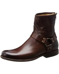Frye - Womens Phillip Leather Almond Toe Ankle Cowboy Boots - Lyst