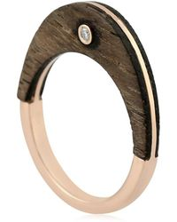 Socheec - Designer Sweet Wooden Ring In Rose Gold - Lyst