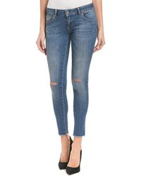 Anine Bing - Ripped Washed Blue Skinny Leg - Lyst