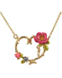 Les Nereides - Blossom Heart Rose Short Necklace - Lyst