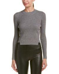 Kendall + Kylie - Lurex Wool-blend Sweater - Lyst