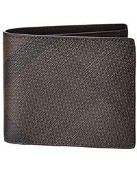 Burberry - London Check International Bifold Coin Wallet - Lyst