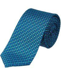 Versace - Turquoise Silk Tie - Lyst