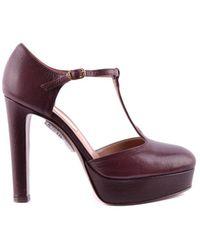 L'Autre Chose - Women's Burgundy Leather Pumps - Lyst