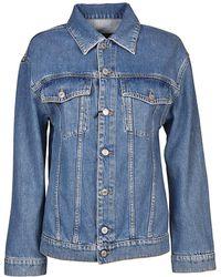 Jeremy Scott - Women's Blue Cotton Jacket - Lyst