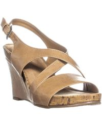 Aerosoles - Plushed Together Wedge Sandals, Nude - Lyst