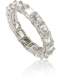 Suzy Levian - Sterling Silver Cubic Zirconia White Modern Eternity Band - Lyst