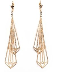 Peermont - Gold & Crystal Drop Earrings - Lyst