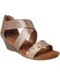 Söfft - Kera Leather Wedge Sandal - Lyst