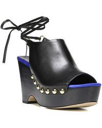 Diane von Furstenberg - Diane Von Furstenberg Bali Leather Wedge Sandal - Lyst