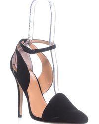 Halston - Daphanie Ankle Strap Pumps, Black - Lyst