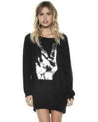 Lauren Moshi - Bel Long Sleeve Pullover Sweatshirt In Jet Black - Lyst