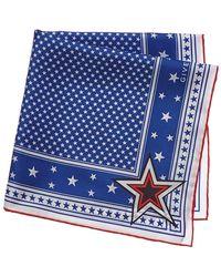 Givenchy - Star Silk Twill Square Scarf - Lyst